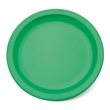 Emerald Green Polycarbonate Narrow Rimmed 17cm Plate