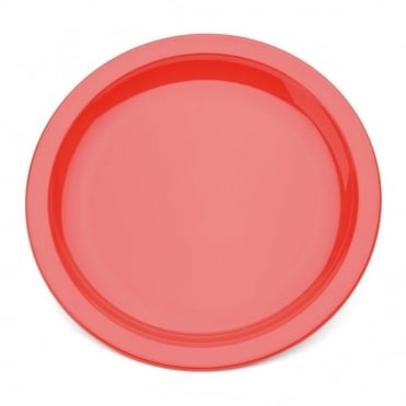 Red Polycarbonate Narrow Rimmed 17cm Plate