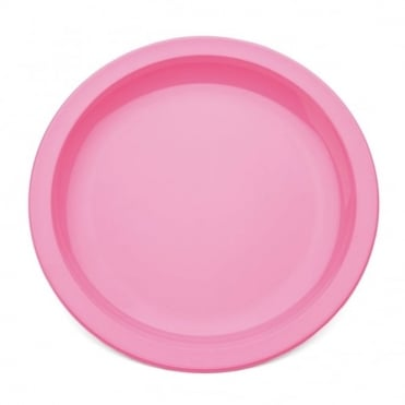 Pink Polycarbonate Narrow Rimmed 17cm Plate