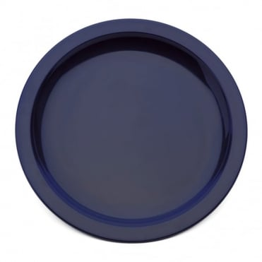 Royal Blue Polycarbonate Narrow Rimmed 17cm Plate