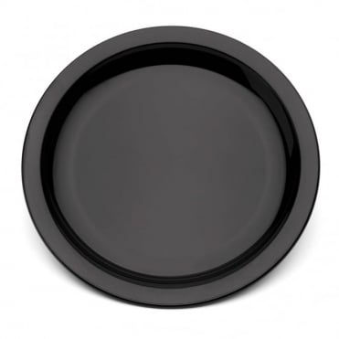 Black Polycarbonate Narrow Rimmed 17cm Plate
