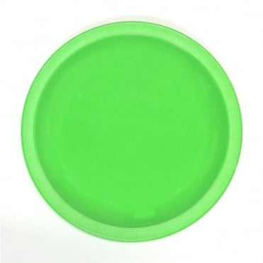 Lime Green Polycarbonate Narrow Rimmed 17cm Plate
