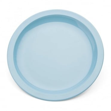 Summer Blue Polycarbonate Narrow Rimmed 17cm Plate