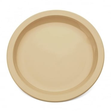 Honey Polycarbonate Narrow Rimmed 17cm Plate