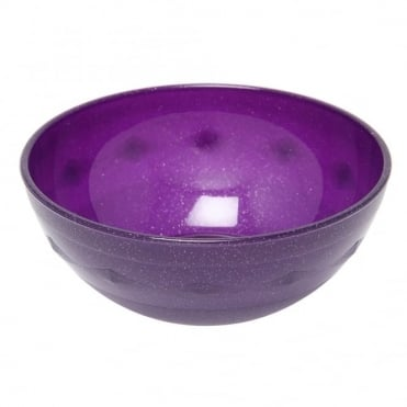 Purple Sparkle Polycarboante 10cm Bowl