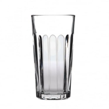Paneled Nucleated Beer Glass 570ml | CE Marked 1 Pint | Pack of 24