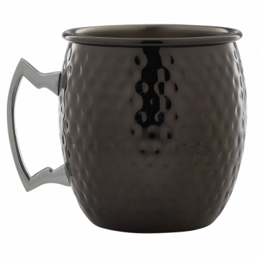 Gun Metal Barrel Mug Hammered 550ml 19.25oz