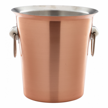 Copper Wine Bucket with Ring Handles 19cm x 18.5cm
