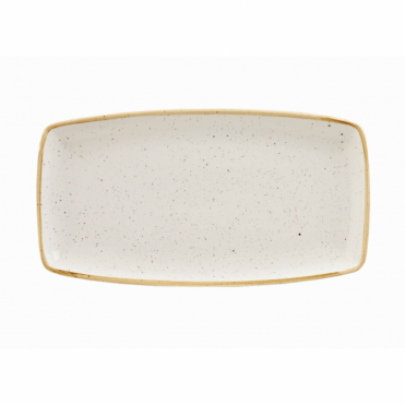Stonecast Oblong Plate 35cm x 18.5cm - Barley White | Pack of 6