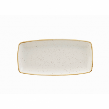 Stonecast Oblong Plate 29.5cm x 15cm - Barley White | Pack of 12