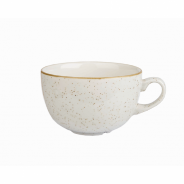 Stonecast Cappuccino Cup 500ml 17.5oz - Barley White | Pack of 6