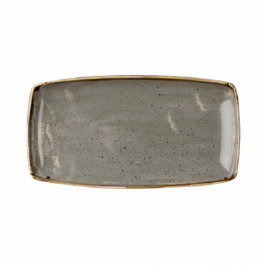 Stonecast Oblong Plate 35cm x 18.5cm - Peppercorn Grey | Pack of 6