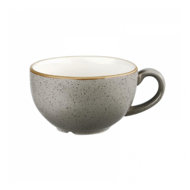Stonecast Cappuccino Cup 227ml 8oz - Peppercorn Grey | Pack of 12