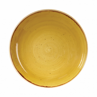 Stonecast Coupe Bowl 1.1 Litre 24.8cm - Mustard Seed Yellow | Pack of 12