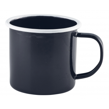 Black Enamel Mug 360ml 12.5oz