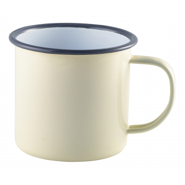 Cream Enamel Mug 360ml 12.5oz