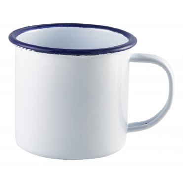 White Enamel Mug 360ml 12.5oz