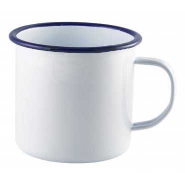 White Enamel Mug 568ml 20oz