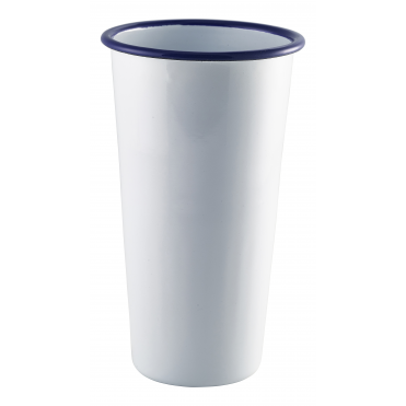 Tall White Enamel Tumbler 400ml 14oz