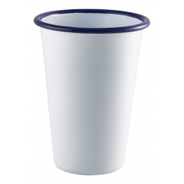 Jumbo White Enamel Tumbler 800ml 28.25oz