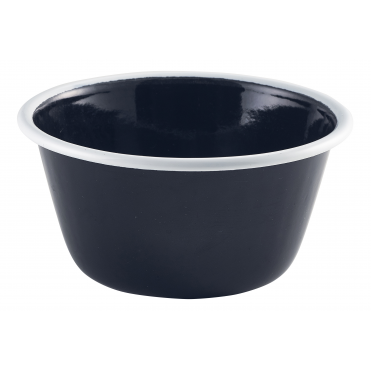 Black Enamel Deep Pie Dish 500ml
