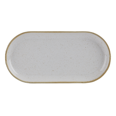Seasons Stone Narrow Oval Plate | Pack of 6