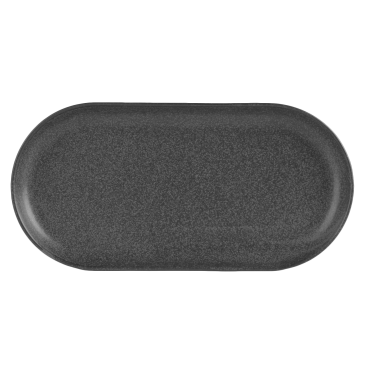 Seasons Graphite Narrow Oval Plates 32 x 20cm | Pack of 6