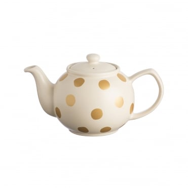 Gold Spot Cream 2 Cup Teapot | Pack of 3