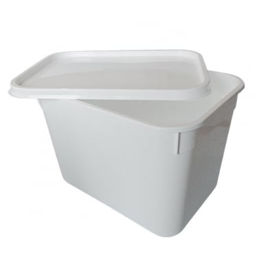 4 Litre Rectangular Plastic Container and Lid | Single