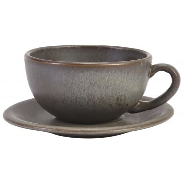 Antigo Terra Stoneware Cup and Saucer 300ml 10.5oz | Pack of 12
