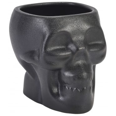 Black Porcelain Tiki Skull Mug 800ml 28.15oz