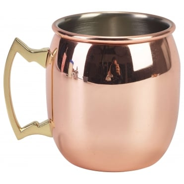 Barrel Copper Plated Mug 400ml 14oz