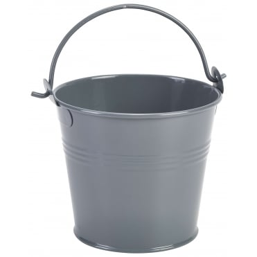 Galvanised Steel Grey Serving Bucket 10cm 500ml