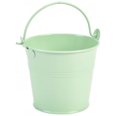 Galvanised Steel Pastel Green Serving Bucket 10cm 500ml