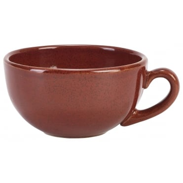 Red Rustic Bowl Shaped Cup | Pack of 12
