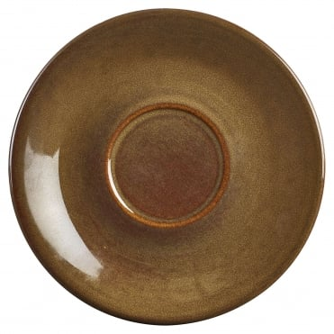 Brown Rustic Saucer | Pack of 12