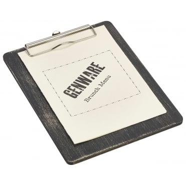 Black Wooden Menu Clipboard - A5