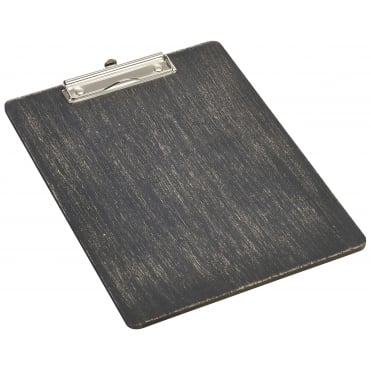 Black Wooden Menu Clipboard - A4