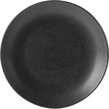 Seasons Graphite Coupe Plate 24cm | Pack of 6