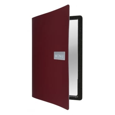Leather Menu - Royal Red (A4 - 4 Page Facing)