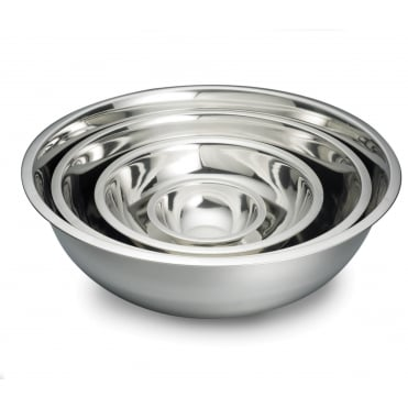 H827 Heavyweight Stainless Steel Mixing Bowl 7.5L 35 x 11cm
