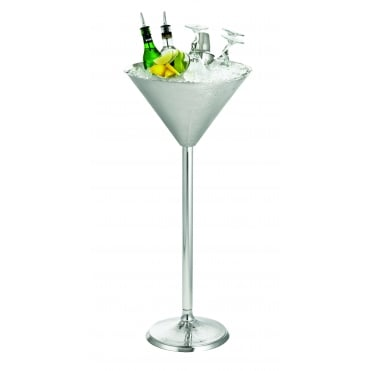 RS1432 S/S Remington Martini Glass Beverage Stand 37 x 82.5cm