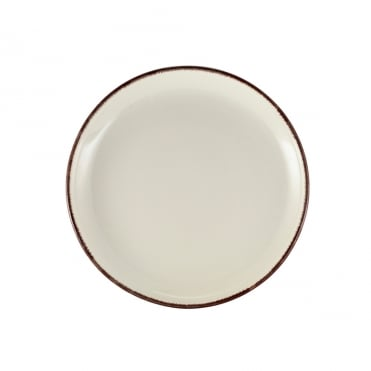 Sereno Brown Terra Stoneware Coupe Plate 19cm | Pack of 6
