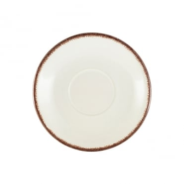 Sereno Brown Terra Stoneware Saucer 15cm | Pack of 12